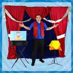 Birthday Magic Show Theater Backdrop