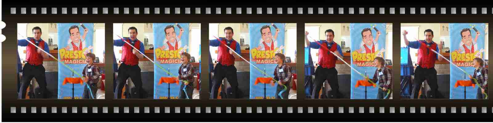 kids magic birthday party entertainer - Presto the Magician