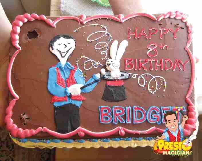Birthday cake with Presto the Magician