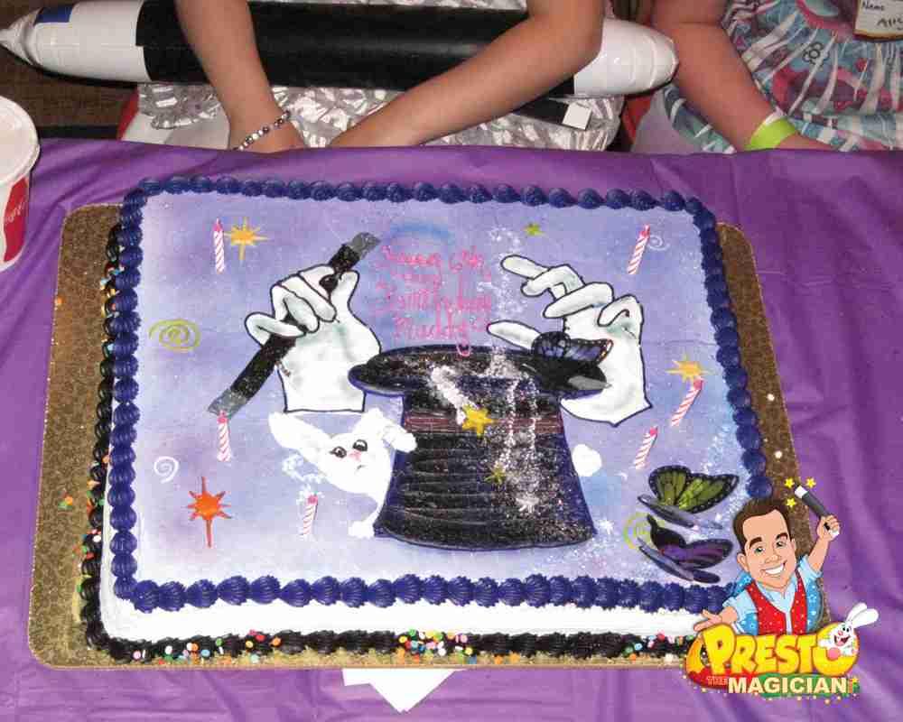 Fine Presto The Magician Magic Birthday Cake Ideas Funny Birthday Cards Online Elaedamsfinfo