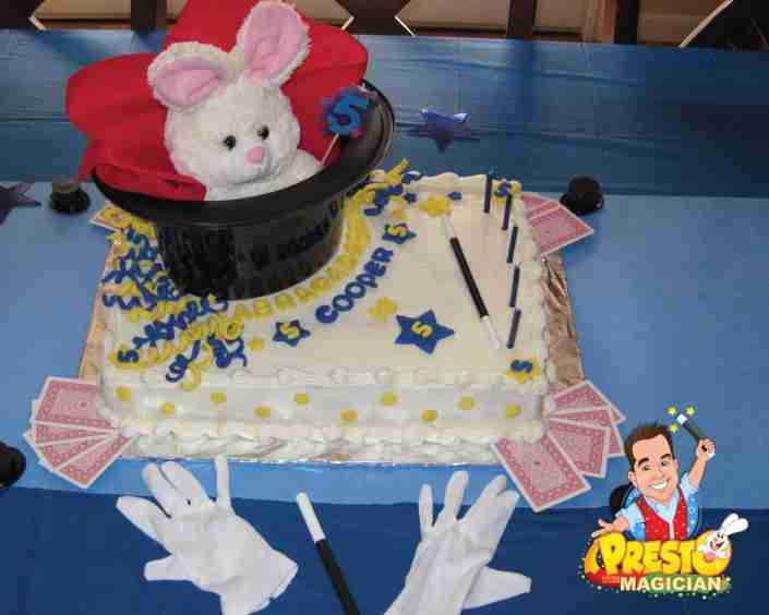 magic birthday party cake