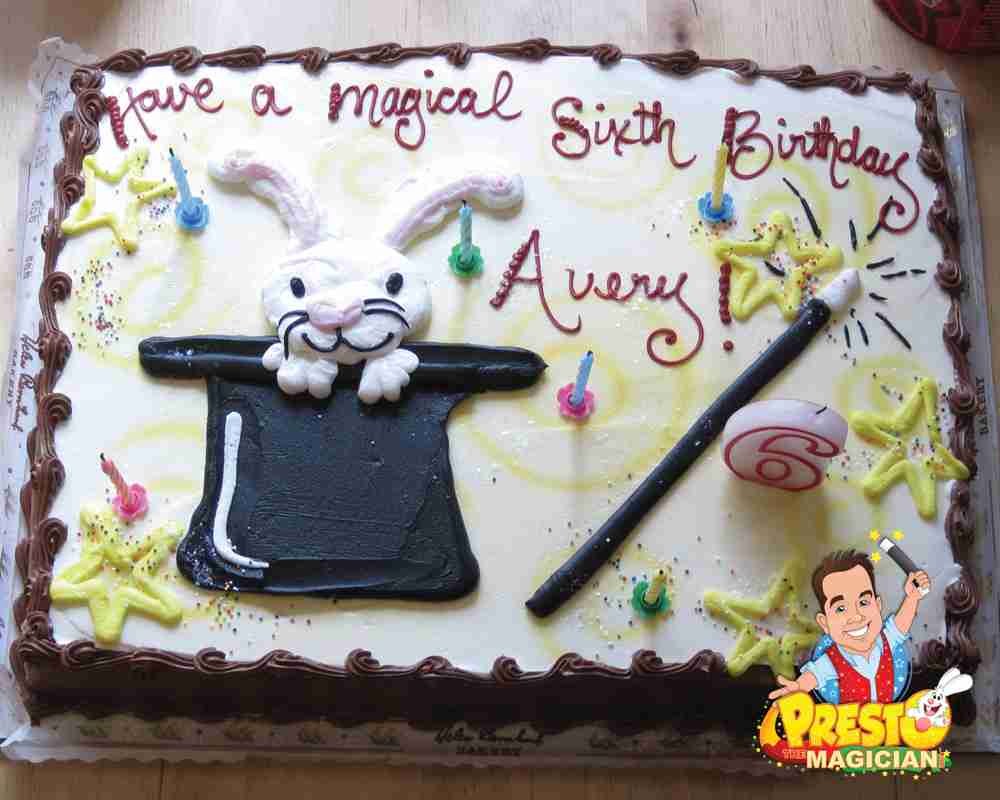 Magic Birthday Party Cake Rabbit In Hat