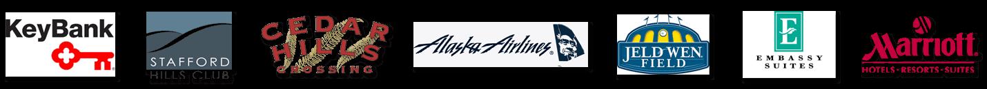 past magic show clients - key bank, alaska airlines, marriott, embassy suites, stafford hills club