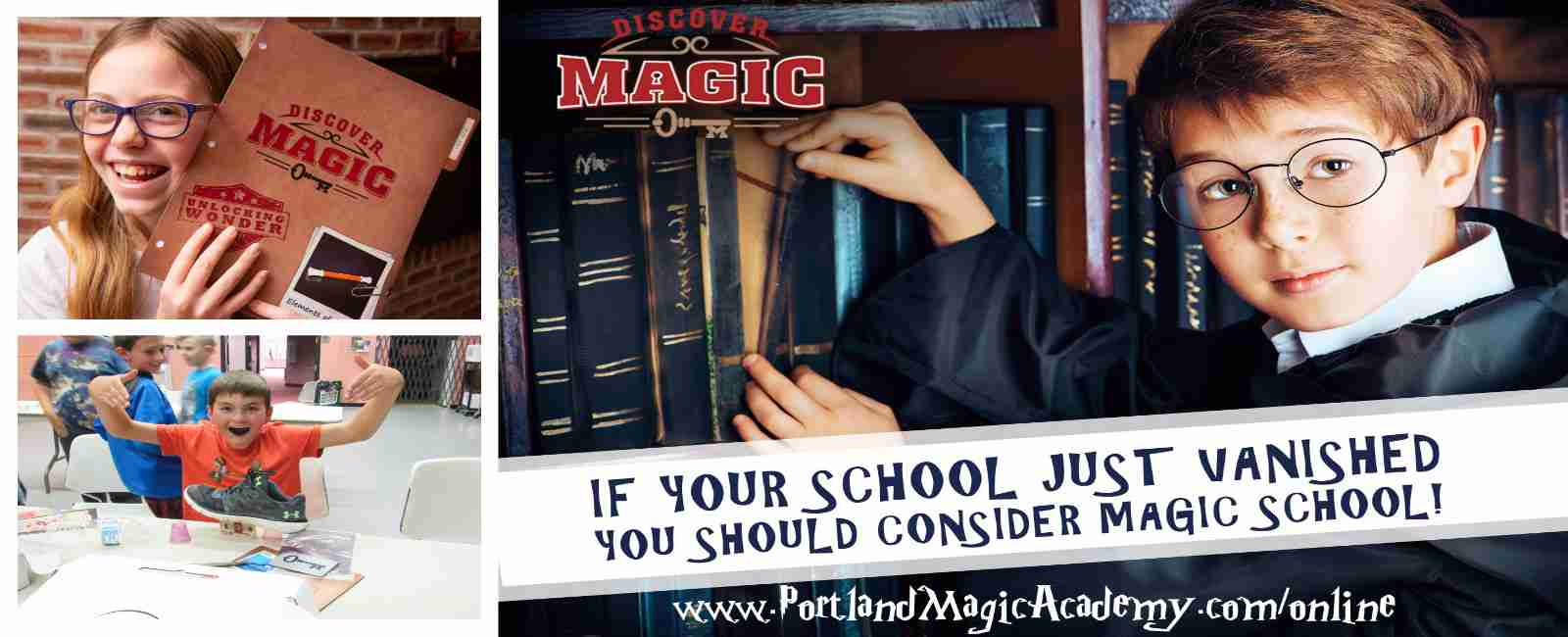 online magic classes banner