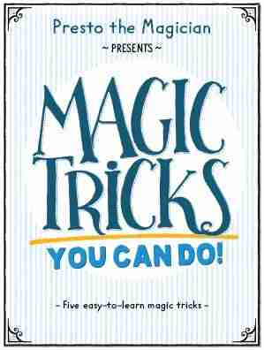 Presto the magician - Magic Tricks You Can Do booklet