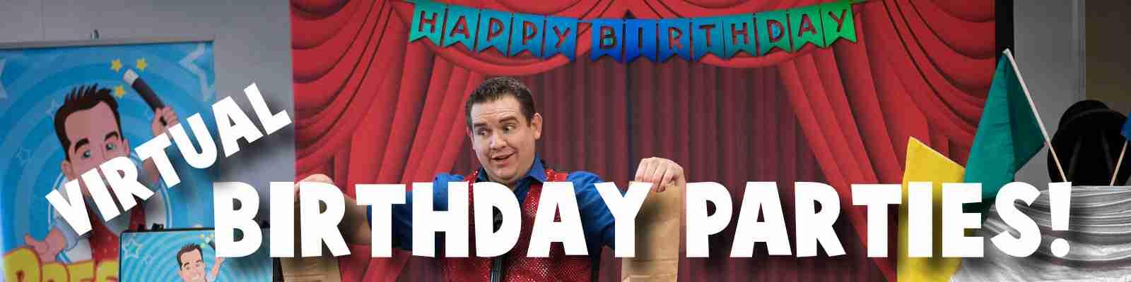 virtual birthday party magic show with presto the magician